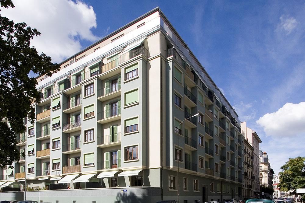 Transformation et rénovation des façades,Bd Yvoi,rue des Bains